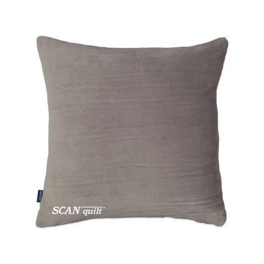 SCANquilt - pléd CORAL - set s návlekem sv. šedá 150 x 200 cm + 45 x 45 cm - Atraktivní plédy a přehozy