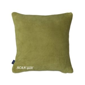 SCANquilt - pléd CORAL - set s návlekem olivová 150 x 200 cm + 45 x 45 cm - Atraktivní plédy a přehozy