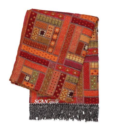 SCANquilt - vlněný pléd LAMB SOFT mexico červená 130/140 x 190cm - Atraktivní plédy a přehozy