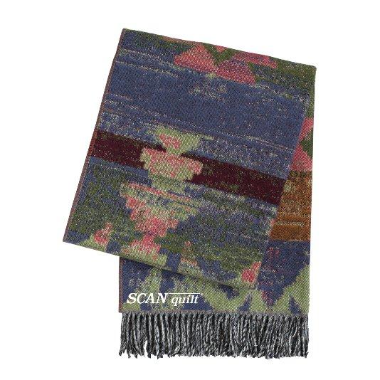 SCANquilt - vlněný pléd LAMB SOFT navajo modročervenozelená 130/140 x 190cm - Atraktivní plédy a přehozy