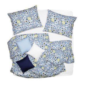 SCANquilt - dětské povlečení KLASIK kolečka modrozelená 140 x 220/70 x 90 cm - Povlečení SCANquilt