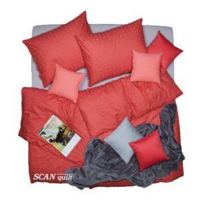 SCANquilt - povlečení ELEGANT korálová 240 x 200/2 x 70 x 90 cm - Povlečení SCANquilt