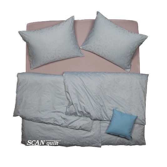 SCANquilt - povlečení ELEGANT sv. modrá 140 x 200/70 x 90 cm - Povlečení SCANquilt