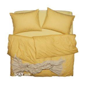 SCANquilt - povlečení ELEGANT žlutá 240 x 200/2 x 70 x 90 cm - Povlečení SCANquilt