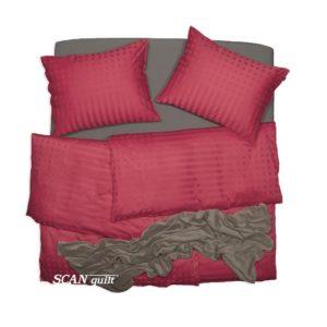 SCANquilt - povlečení ELEGANT červená 140 x 200/70 x 90 cm - Atraktivní plédy a přehozy
