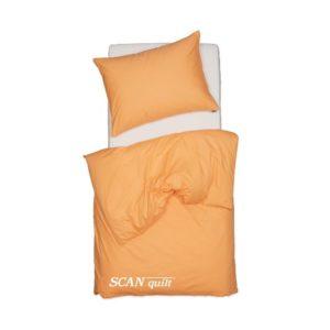 SCANquilt - povlečení FINO oranžová 140 x 200/70 x 90 cm - Povlečení SCANquilt