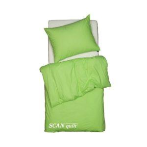 SCANquilt - povlečení FINO zelená 140 x 200/70 x 90 cm - Povlečení SCANquilt