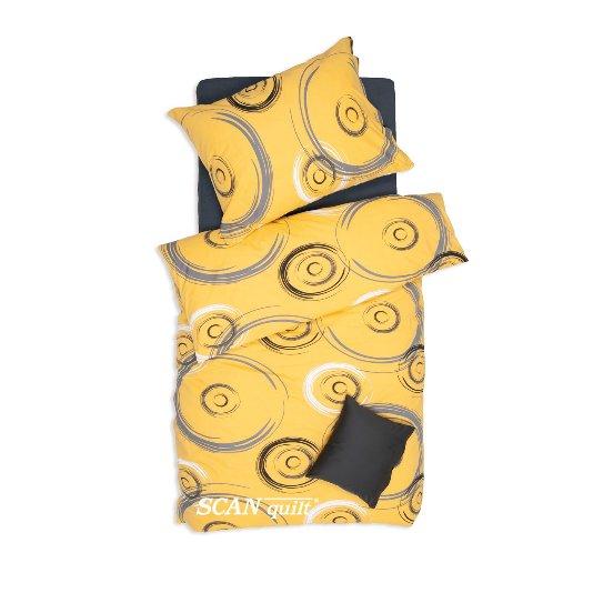 SCANquilt - povlečení KLASIK ovály žlutá 140 x 200/70 x 90 cm - Povlečení SCANquilt
