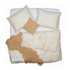 SCANquilt - povlečení KLASIK tony písková 140 x 200/70 x 90 cm - Povlečení SCANquilt