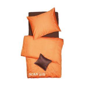 SCANquilt - povlečení SATÉN COLOR oranžová 140 x 200/70 x 90 cm - Povlečení SCANquilt