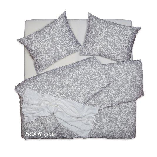 SCANquilt - povlečení SATÉN PLUS hypno šedobílá 140 x 220/70 x 90 cm - Povlečení SCANquilt