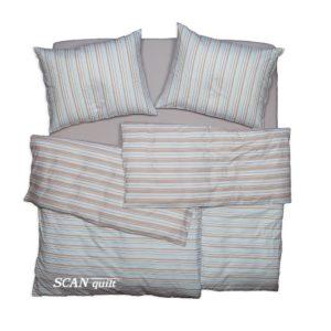 SCANquilt - povlečení TOP LINE tyrkysovohnědá 140 x 200/70 x 90 cm - Povlečení SCANquilt