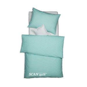 SCANquilt - povlečení TREND proužky zelená 140 x 200/70 x 90 cm - Povlečení SCANquilt