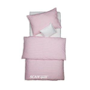 SCANquilt - povlečení TREND proužky růžová 140 x 200/70 x 90 cm - Povlečení SCANquilt