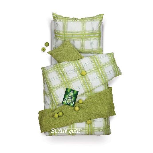 SCANquilt - povlečení VELVET kostka zelená 140 x 200/70 x 90 cm - Povlečení SCANquilt