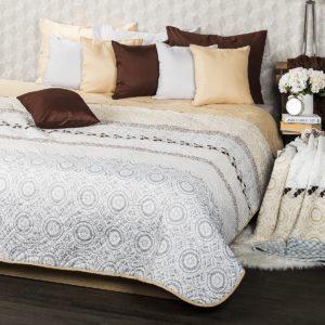 4Home Přehoz na postel Circles béžová