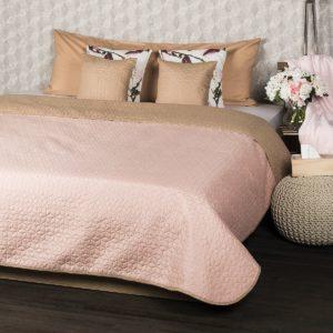 4Home Přehoz na postel Doubleface béžová/růžová