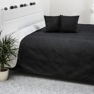 4Home Přehoz na postel Doubleface bílá/černá