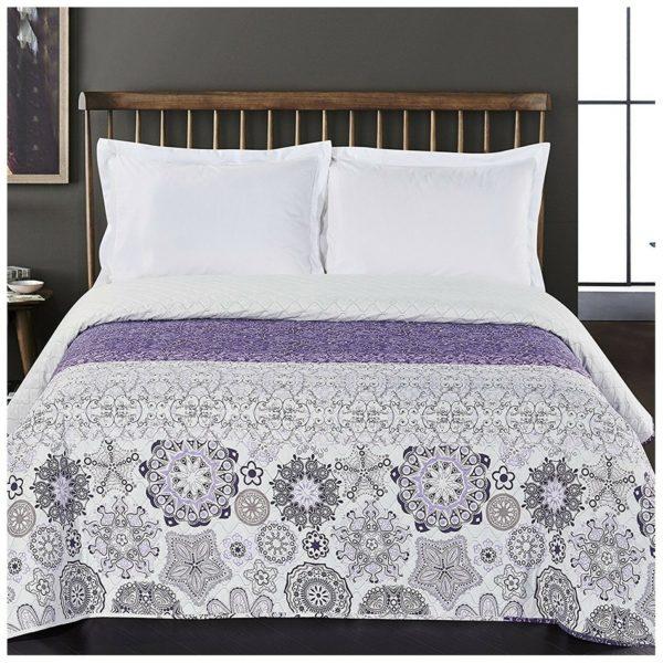 DecoKing Přehoz na postel Alhambra fialová