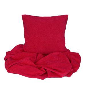 SCANquilt - pléd BELLA červená 150 x 200 cm - Atraktivní plédy a přehozy