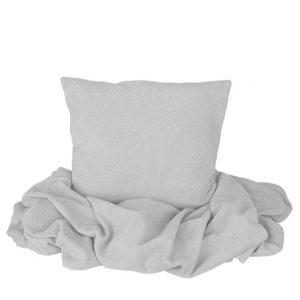 SCANquilt - pléd BELLA šedá 150 x 200 cm - Atraktivní plédy a přehozy