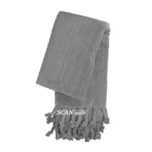 SCANquilt - pléd NORDIC šedá 150 x 200 cm - Atraktivní plédy a přehozy