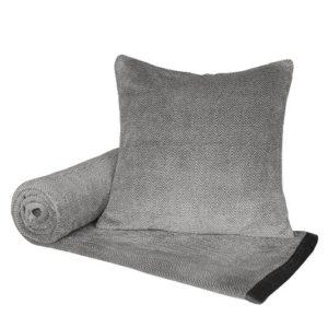 SCANquilt - pléd ROYAL zic zac šedá 150 x 200 cm - Atraktivní plédy a přehozy
