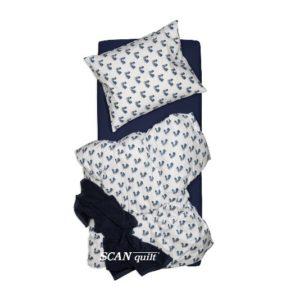 SCANquilt - povlečení KLASIK tenisky bílomodrá 140 x 220/70 x 90 cm - Povlečení SCANquilt