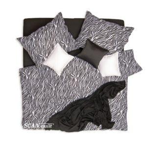 SCANquilt - povlečení KLASIK DESIGN zebra černobílá 240 x 200/2 x 70 x 90 cm - Povlečení SCANquilt
