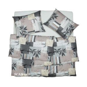 SCANquilt - povlečení KLASIK DESIGN bamboo béžovošedá 140 x 200/70 x 90 cm - Povlečení SCANquilt