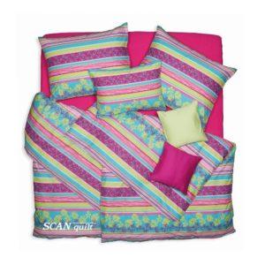 SCANquilt - povlečení KLASIK DESIGN fresh pastelová 140 x 200/70 x 90 cm - Povlečení SCANquilt