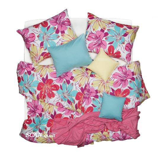 SCANquilt - povlečení KLASIK DESIGN flower bed pastelová 140 x 200/70 x 90 cm - Povlečení SCANquilt
