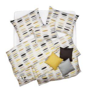 SCANquilt - povlečení KLASIK DESIGN velo print bílookrovošedá 140 x 200/70 x 90 cm - Povlečení SCANquilt