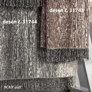 SCANquilt - vlněný pléd LAMB SOFT wood 130/140 x 190cm - Atraktivní plédy a přehozy