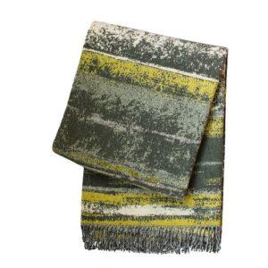 SCANquilt - vlněný pléd LAMB SOFT litorale žlutošedá 130/140 x 190cm - Atraktivní plédy a přehozy