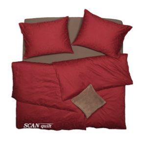 SCANquilt - povlečení ELEGANT červená 240 x 200/2 x 70 x 90 cm - Povlečení SCANquilt