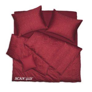 SCANquilt - povlečení SATÉN steh rezavá 140 x 200/70 x 90 cm - Atraktivní plédy a přehozy