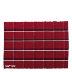SCANquilt - prostírání MURI červenobílostříbrná 33 x 45 cm - Atraktivní plédy a přehozy