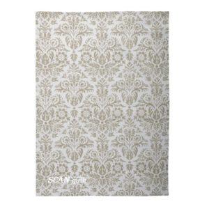 SCANquilt - utěrka DEKORO royal bílobéžová 50 x 70 cm - Atraktivní plédy a přehozy