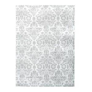 SCANquilt - utěrka DEKORO royal bílošedá 50 x 70 cm - Atraktivní plédy a přehozy