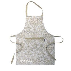 SCANquilt - zástěra DEKORO royal bílobéžová 60 x 80 cm - Atraktivní plédy a přehozy