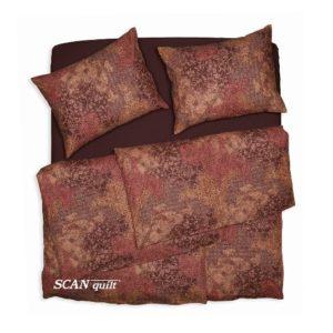 SCANquilt - povlečení KLASIK ornament patch rezavohnědá 140 x 200/70 x 90 cm - Povlečení SCANquilt