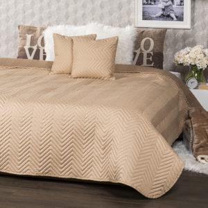 4Home Přehoz na postel Doubleface světle hnědá/hnědá
