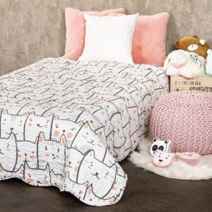4Home Dětský přehoz na postel Kočky