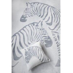 SCANquilt - pléd COMFORT MELANGE zebra šedá 150 x 200 cm - Atraktivní plédy a přehozy