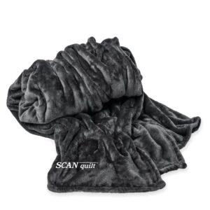 SCANquilt - pléd NOBLES tm. šedá 150 x 200 cm - Atraktivní plédy a přehozy