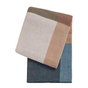 SCANquilt - vlněný pléd LANA kostky 150 x 200 cm - Atraktivní plédy a přehozy