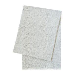 SCANquilt - vlněný pléd MILÁNO melange sv. šedá 65 x 200 cm - Atraktivní plédy a přehozy