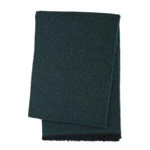 SCANquilt - vlněný pléd MILÁNO melange tm. zelená 65 x 200 cm - Atraktivní plédy a přehozy