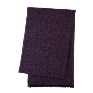 SCANquilt - vlněný pléd MILÁNO melange tm. fialová 65 x 200 cm - Atraktivní plédy a přehozy